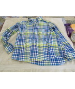 Lands End Kids M 10-12 Blue White And Yellow Top - $6.99