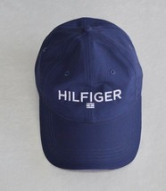 Tommy Hilfiger Logo Baseball Cap Hat Navy Blue Mens Womens Adjustable - $28.99