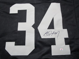 BO JACKSON / NCAA HALL OF FAME / AUTOGRAPHED OAKLAND RAIDERS CUSTOM JERSEY / COA image 3
