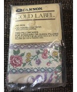 Vintage Sealed Cannon Gold Label  Jeunesse Floral Pillowcases (off White) - $8.79