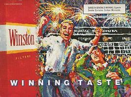 Winston Cigarettes Stadium Fireworks 1989 Continuity Graphic Art Ad - $14.99