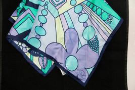 OSCAR DE LA RENTA Vintage MOD Scarf * Turquoise... - $11.83
