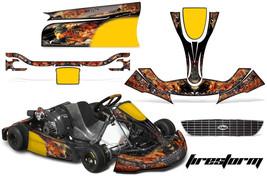 Go Kart Graphics Kit Decal Sticker Wrap For Righetti Ridolfi XTR14 FIRESTORM BLK - $197.95