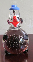 MURANO Style HandBlown Multi-Colored Glass with Bubbles Clown Made In Italy - $64.99