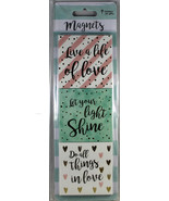 Live A Life Of Love, Let Your Light Shine, Do All Things In Love MAGNETS... - $10.82