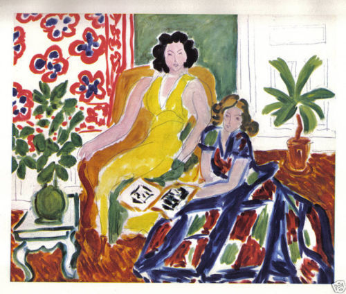 HENRI MATISSE 1942 GRAVURE PRINT w/COA. gorgeous engraving from CLASSIC RARE ART
