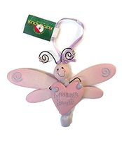 Dragonfly with Heart Baby Ornament 5 inches wide (Mommy's Girl) - $15.00