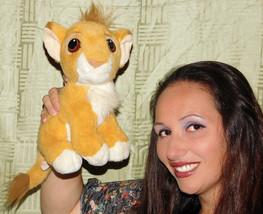 Vintage Lion King Simba Stuffed Plush Purring 1993 Mattel Disney Animal ... - $18.69