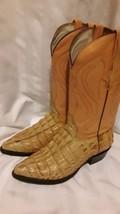 Men'S Exotic Caiman Crocodile Print  Western Cowboy Boots By REBELDE Si... - $65.44