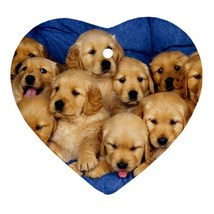 Golden Retriever Puppy Puppies Dog Animal (Heart) Ornaments Decoration C... - $3.69