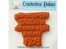 Crackerbox Palace Sentiment &Popped Corn Rubber Cling Stamps, Set of 2 image 2