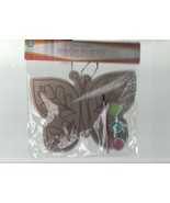 "Paint Your Own Butterfly Wooden Ornament - Brush, 3 Paint Pots - 6"" by 7... - $3.91"