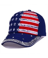Stripe Stars American Flag Baseball Cap 4th of July Hat Women Men Navy S... - $15.99