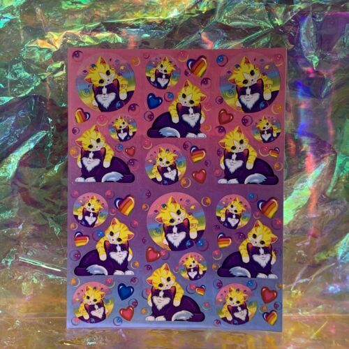 Lisa Frank Complete Sticker Sheet S268 Playtime Kittens Bubbles