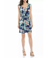 Tommy Bahama Bangalore Blossoms Short Dress Belted Island Navy Size M NW... - £38.31 GBP