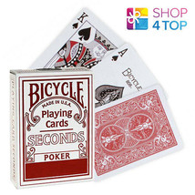 BICYCLE SECONDS PLAYING POKER CARDS LAST STOCK DECK STANDARD INDEX RED USA - $18.54