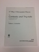 17 Plus 1 Percussion Pieces by William J Schinstine Snare Drum Festival ... - $18.18