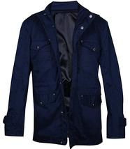 Mens Dean Winchester Supernatural Jensen Ackles Blue Cotton Jacket image 2