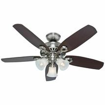 Hunter Fan #52106 235 RPM 60W 3-Speed Ceiling Fan 42'' w/ Light Brushed ... - $89.09