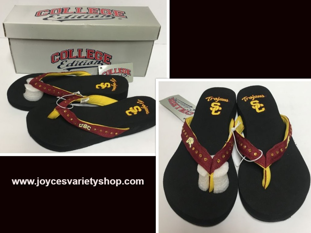 USC Southern California Trojans Women's Flip Flops Sandals Shoes Many Sizes