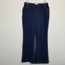 PAJAMA JEANS Womens Stretch Blue Jeans Size M (31 Inseam) Pullon Denim P... - $28.20