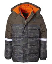 Ixtreme Big Boys Camouflage Olive Puffer Jacket with Fleece Hat Set - $60.00