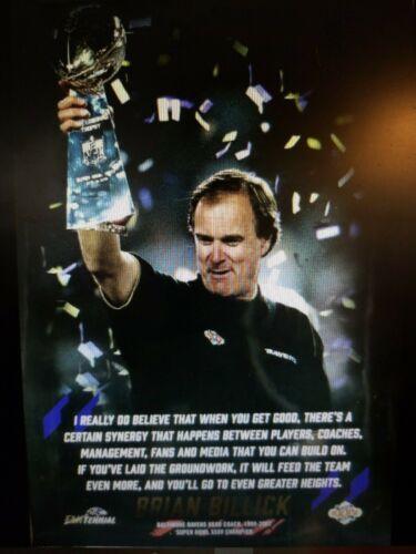 Brian Billick Ring of Honor Induction Poster Baltimore Ravens September 29, 2019