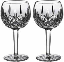 Waterford LISMORE Balloon Wine Glass Pair 8oz New #156516 - $171.67