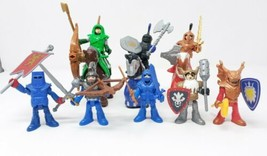 Fisher Price Imaginext Knights (7) + Horses (3) Lot - Owl Weapons Catapu... - $27.54