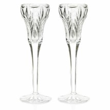 "Marquis by Waterford Canterbury Set of Two 8.5"" Candlesticks  Crystal NEW - $52.46"