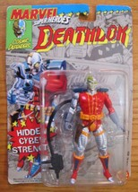 MARVEL Cosmic Defenders DEATHLOCK ACTION FIGURE with Backpack & Gun 1992... - $19.80