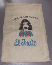 "VTG LARGE 28"" X 42"" Burlap Coffee Gunny Sack Tapestry Fabric El Indie Co... - $44.96"
