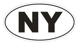 Ny New York Euro Oval Bumper Sticker Or Helmet Sticker D478 Laptop Tablet - $1.39+