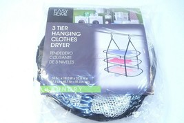 """Easy Home Hanging Clothes Dryer 3 Tier 26.5 x 18 x 32"""" Laundry Dryer Net... - $18.37"""