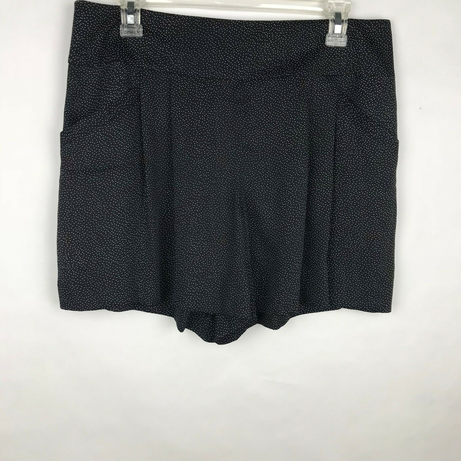 Primary image for Ann Taylor LOFT Women's Size 8 Black White Polka Dot Shorts Classic Pleated
