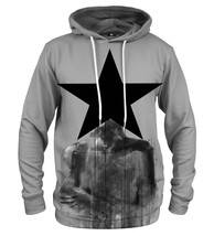 Black Star Printed Hoodie | Unisex | XS-2XL | Mr.Gugu & Miss Go