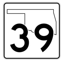 Oklahoma State Highway 39 Sticker Decal R5599 Highway Route Sign - $1.45+
