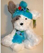 "NEW ST JUDE WHITE PUPPY DOG TREY 18"" BLUE HAT SCARF PLUSH ANIMAL DOLL TOY - $16.99"