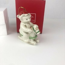 Lenox 2014 Teddy Bear Rocking Horse Christmas Ornament American by Design - $19.79