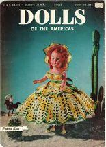 "Vtg 1952 8"" 11"" Americas State Dolls Costume Clothes Georgia Rio Crochet Pattern image 4"