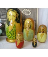 BRITNEY SPEARS Russian Nesting Doll 5 Pcs. Hand Made. plus extras - $39.59