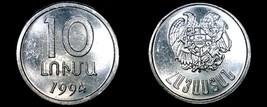 1994 Armenian 10 Luma World Coin - Armenia - $4.99