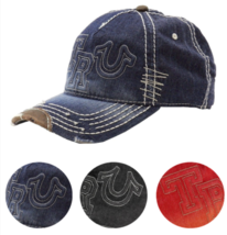 New True Religion Men's Premium Classic Trucker Distressed Hat Cap Buddha TR1995