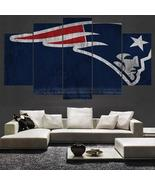 New England Patriots Wall Art Modern Canvas Painting Pats Home Decor - $31.00+