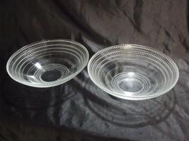 "VINTAGE MATCHED PAIR OF 10 1/2"" HOBNAIL CLEAR GLASS SALAD / FRUIT BOWLS - $59.40"