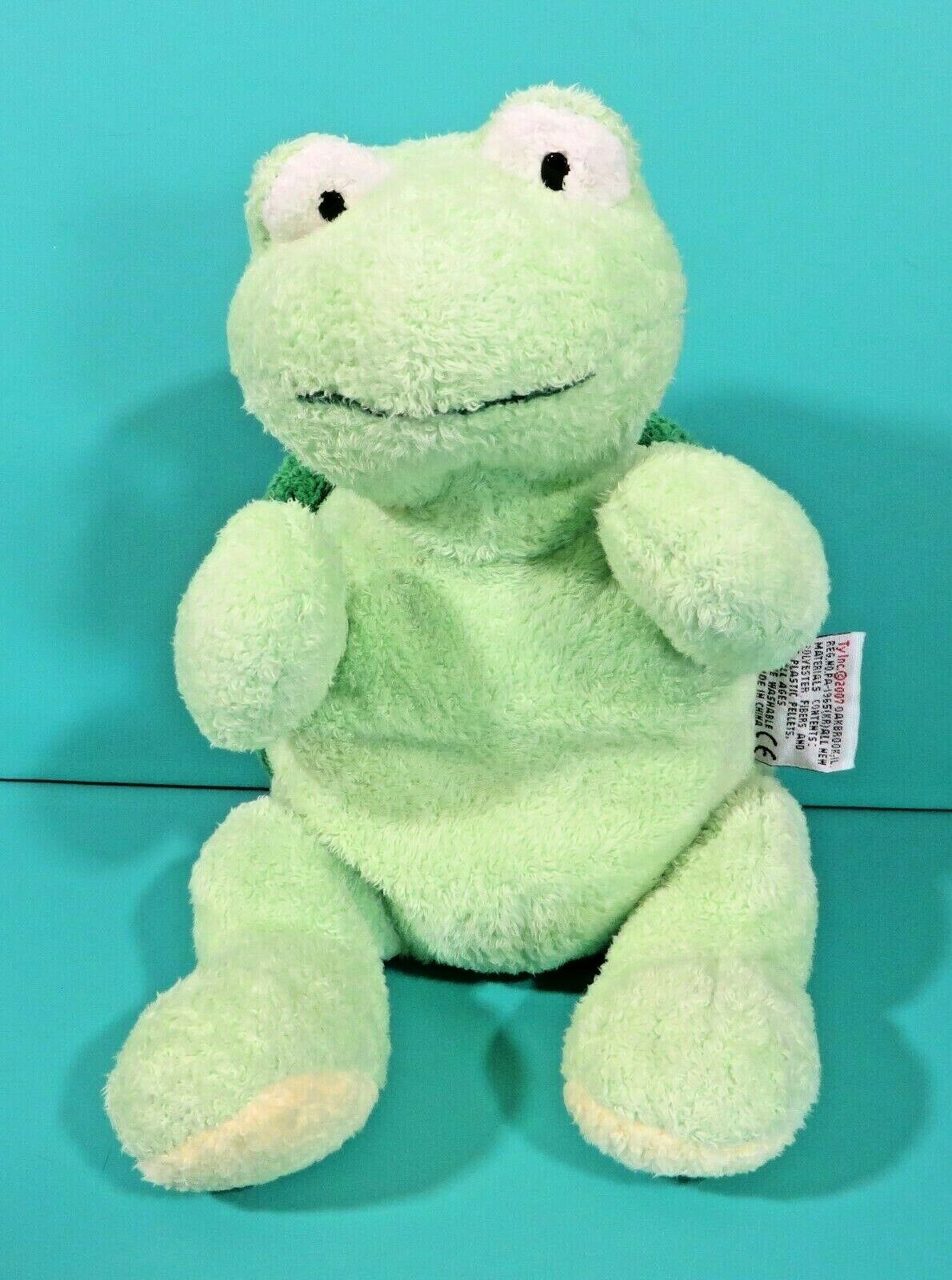"Primary image for Ty Pluffies Zips Green Shell Turtle 10"" Plush Stuffed Animal Baby Lovey 2007"