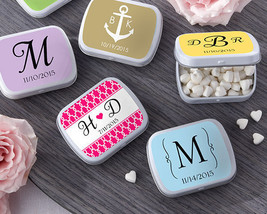 PRICE REDUCTION! Personalized Tin Birthday Bridal Wedding Favor w/ Heart... - $66.45+