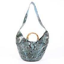 Vintage Gucci Python Bamboo Hobo Bag - $605.00