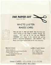 White Luster Magic Card by the Paper Cut, Makes 8 Cards, 8 Envelopes Included
