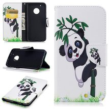 XYX Wallet Phone Case for Moto G5 Plus,[Panda Bamboo][Kickstand] Painted... - $9.88